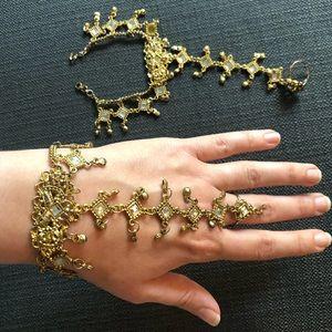 Matching gold slave bracelets